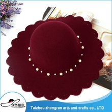 New Products Fashion Customized Felt Beret Hat Lady Wool Felt Floppy Wide Brim Hat