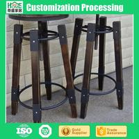 Factory Direct Sale Wrought Iron Solid Wood Bar Stool, Bar Stool High Chair, Bar Rotating Lifting Chair