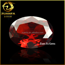 garnet colored CZ Glass oval loose china Glass stones Garnet stone