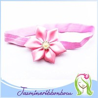 Light Pink Elastic for making baby headbands and crafts, wholesale supply soft stretchy FOE