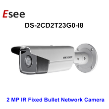DS-2CD2T23G0-I8 IR 80Meters Hikvision 4 MP IR Fixed Bullet Network Camera 3-Axis adjustment