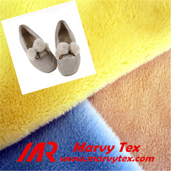 100 polyester tricot micro velboa fabric for making shoes