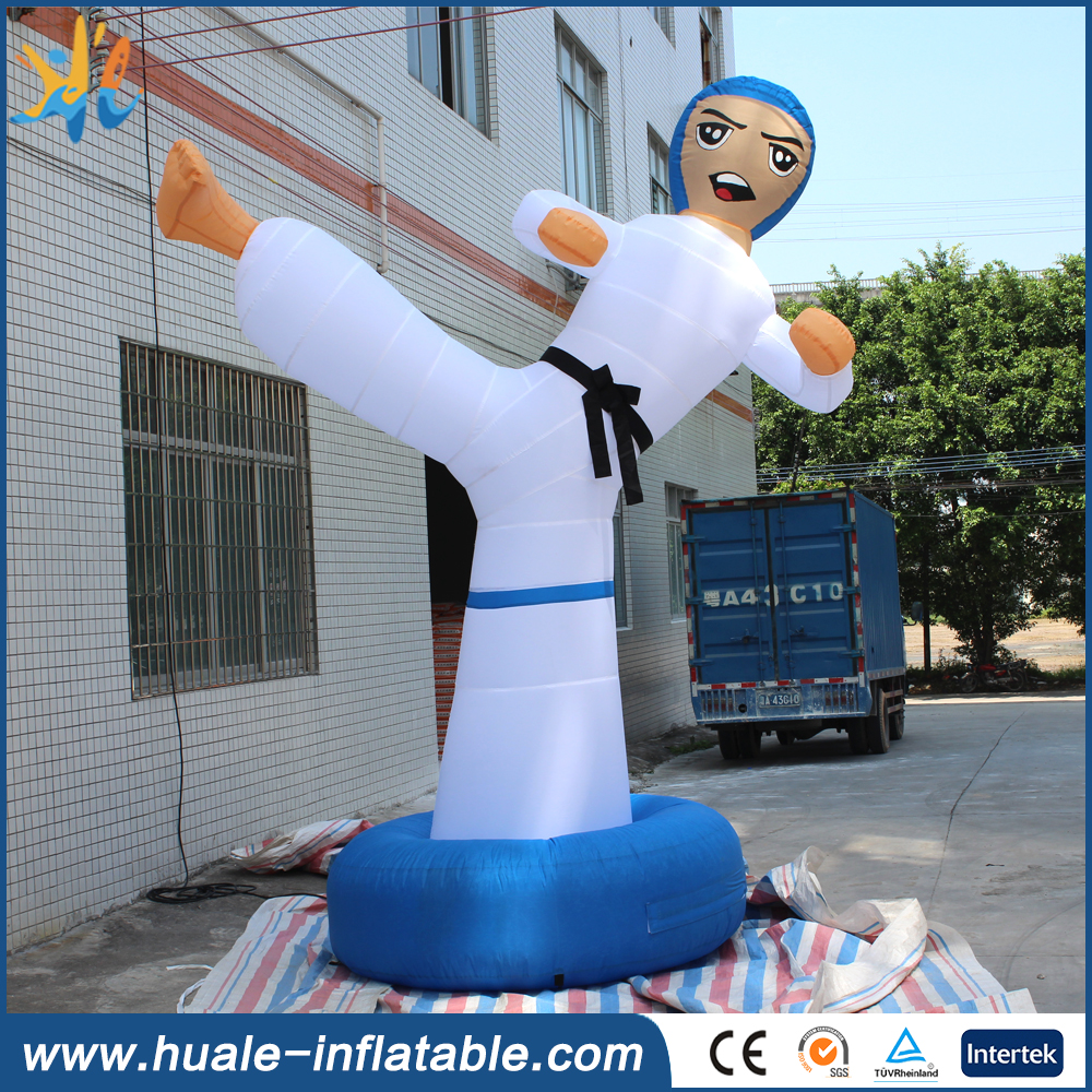 2017 promotion outdoor nflatable taekwondo boy/inflatable kick boy for advertising