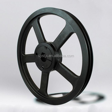 China factory cast iron spoke rubber v belt pulley wheel