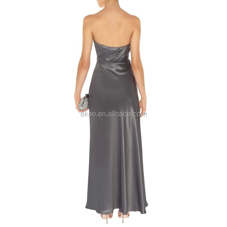 2015 New Arrival Fashion Design High-end green gray Shirt evening Dress