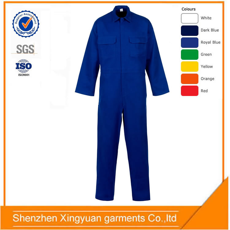 Factory price Polyester/cotton Farm worker soft shell full protective mechanic work overalls for men