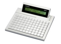 USB POS Keyboard featuring key programming and configuration with LCD display