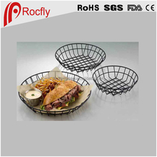 Black Wire Baskets For Fry Food Storage