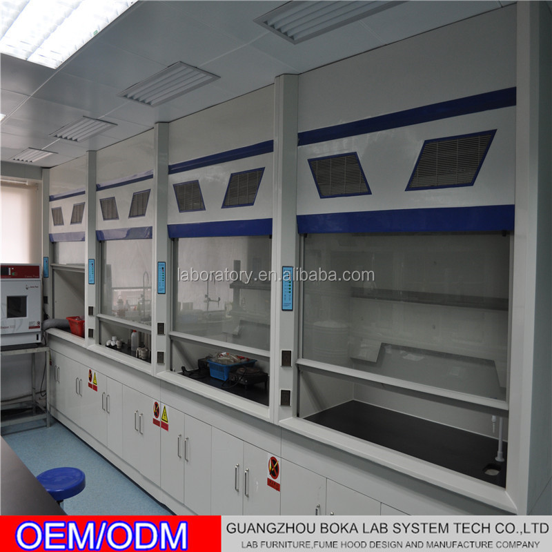Steel Laboratory Fume Hood / Lab Cupboard For Corrosive Chemicals