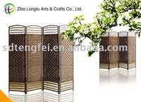 2013 Spring Weaving Room Divider Paper Screens with Wood Frame/Folding Room Screens Divider/movable folding room screen dividers