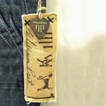 rubber band hang tag fabric hang tag with elastic string
