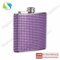 Eco-lovely women stainless steel hip flask for whiskey