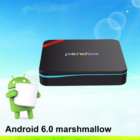 2016 hot sale Pendoo X9 Pro S912 2G 16G android tv s912 wholesale online AD player smart tv box