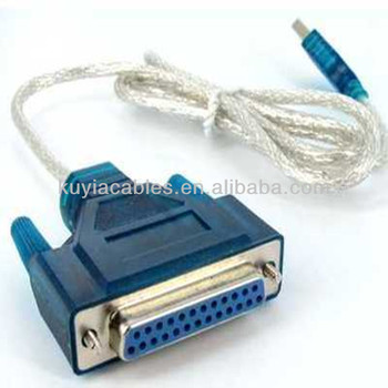 usb to IEEE 1284 25pin 25 pins parallel printer cable