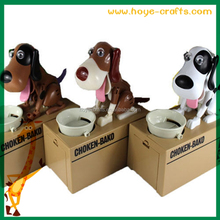 plastic electronic eat money dog piggy bank for children