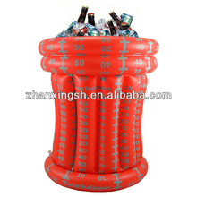 large red pvc inflatable ice bucket/plastic ice bucket for wine pvc ice bucket