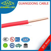 yellow cable in house wiring insulation material copper wire single-core electrical wire cover