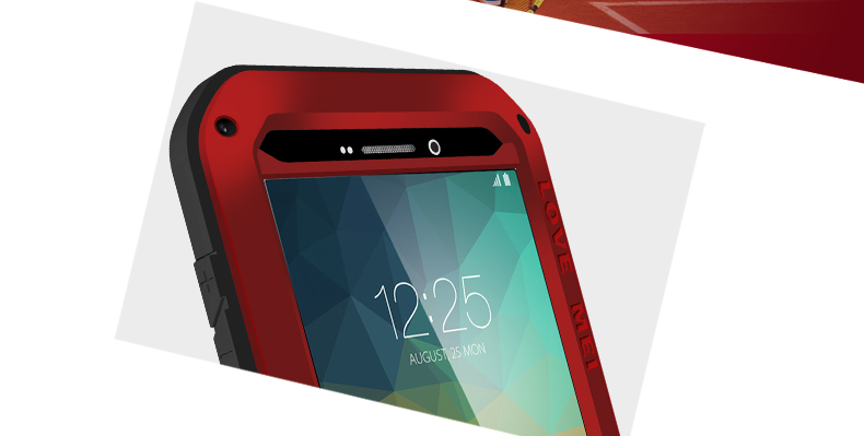2016 hot selling Original LOVE MEI waterproof Shockproof Aluminum case for samsung galaxy note5