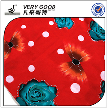 very good garment fabric,woven printed rayon fabric by the yard