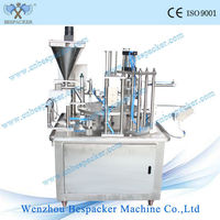 full automatic milk powder filling and sealing machine /cup milk filler amd sealer