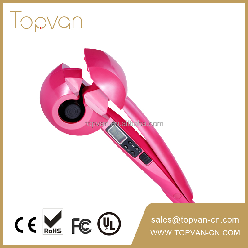 Ceramic LCD Automatic Curl Hair Machine for Salon