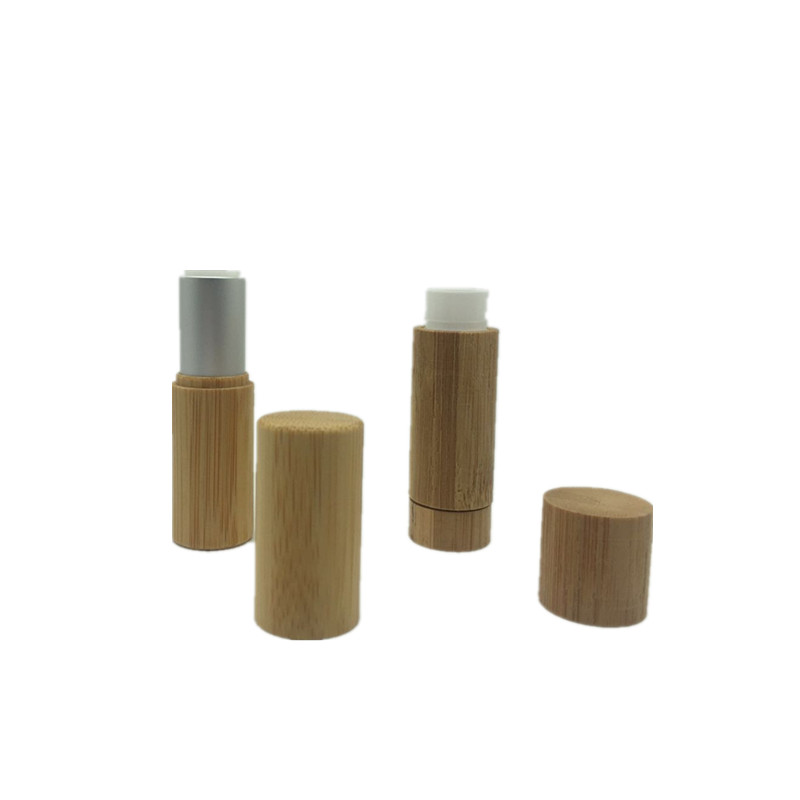 3ml 5ml Eco-friendly empty wooden lip stick case with bamboo shell bamboo lipstick tube