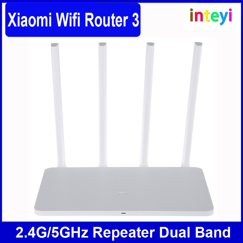 Xiaomi WIFI Router 3 Dual Band ROM 128MB 2.4G/5GHz 1167Mbps WiFi Repeater English Version APP Control wifi Wireless Routers