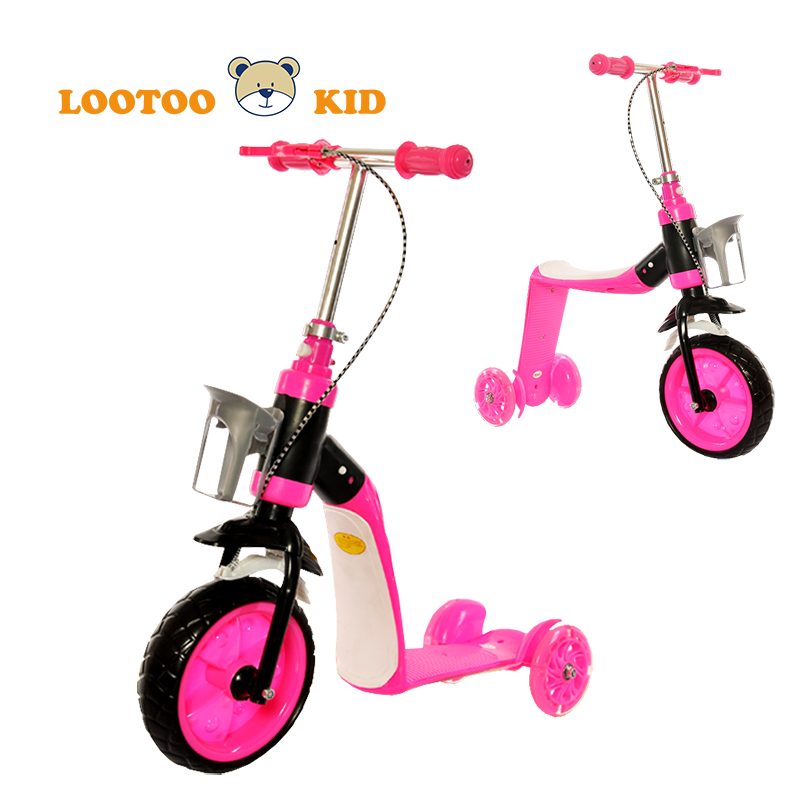 Alibaba trade assurance china factory cheap price 3 wheel kick scooters with big wheels for kids