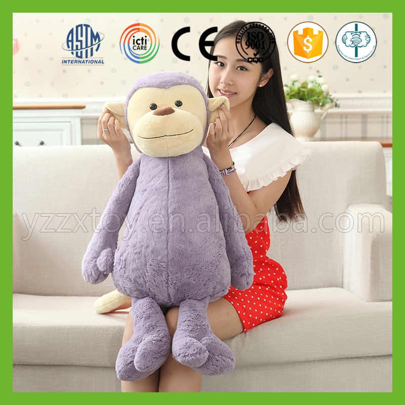 Fashion design best made monkey plush stuffed animal toy