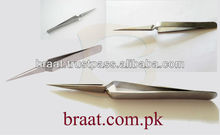 X type tweezers for eyelash extension stainless steel xtreme eyelash extension tweezers pointed tip