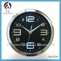 "9"" plastic wall clock decorative wall clock metal dial"