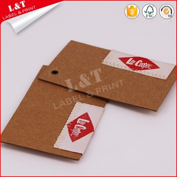 Factory Direct Red Metal Eyelet Kraft Paper Swimwear Hang Tags