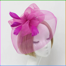 Elegant Hair Accessories Feather Decorated Mesh Fascinator