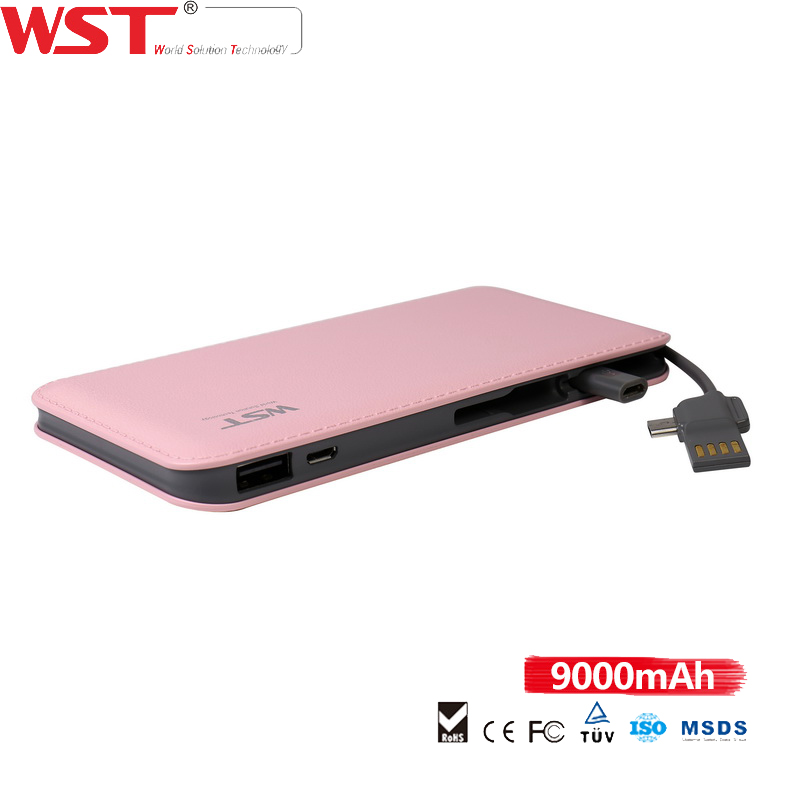 Scratch-resistant high capacity 9000mAh for I5 connector compact li-polymer power pack