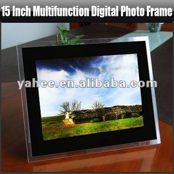 15 inch Multifunction Digital Photo Frame, YHF-D1501