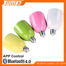 Multi colors smart APP bluetooth control music playing & lighting E27 LED Bluetooth speaker audio light