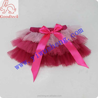 Fashion 3layers pink pictures of girls in mini skirt,princess school girl short skirt for kids