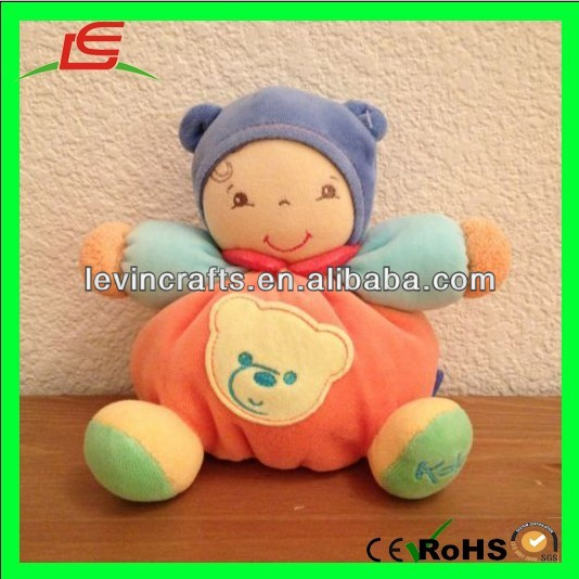 LE h1846 lovely dolly hat kaloo baby doll orange teddy bear plush doll