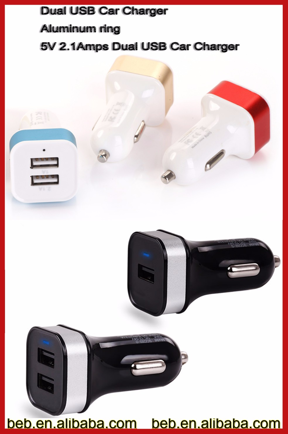 Excellent 5v 2a car charger for iphone 6 plus