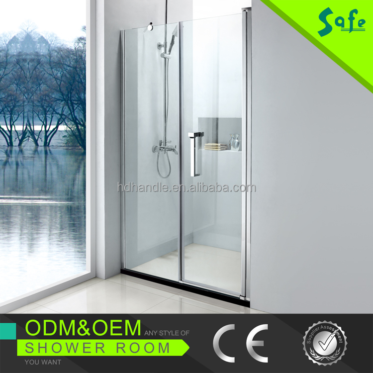 SA8800-N21sector single cubicle swing free standing glass shower enclosure
