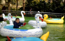 2015 hot selling Electric kiddie inflatable bumper float boat