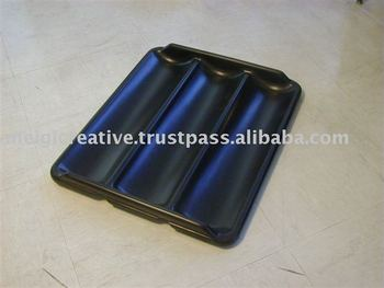 Custom Colored Black Plastic Tray