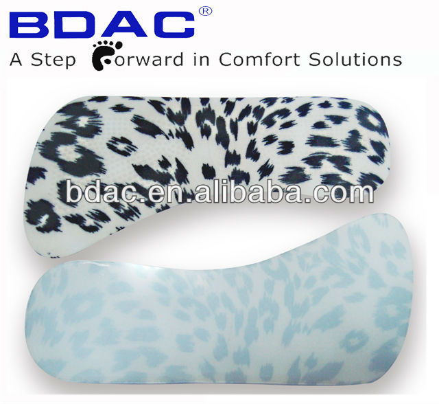 self adhesive custom pu gel sole insole lady shoe high heel feet pads