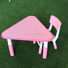 wholesale stock kindergarten furniture kids table chair with plastic foot