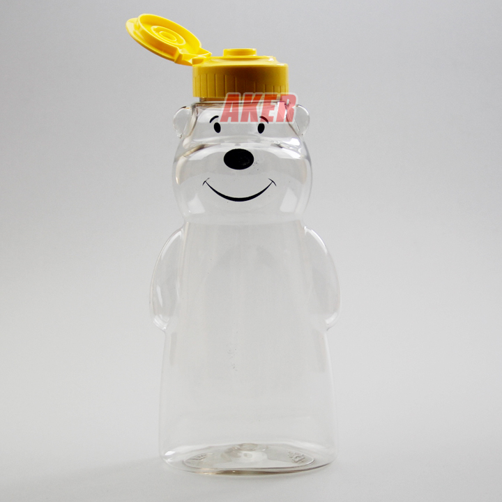 250g Plastic animal bear shape honey plastic jar syrup plastic bottle