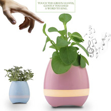 New Plastic flower pot Bluetooth speaker smart flower pot mini speaker music a flower pot for Office and Home