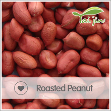 Dry roasted salted organic peanuts in shell