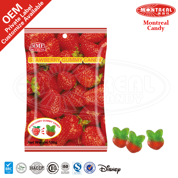 Strawberry Shaped Of Sweet Fruit Candy