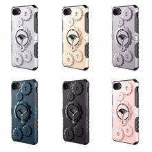 New design 3D gear wheel cover mulit-function kickstand cell phone case for iphone 5G 5S/SE 6G 6S 6 plus 6s plus 7G 7plus