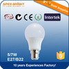 E27/B22 Socket Available 7W View Angle 220 LED Bulb Light Hot Sale